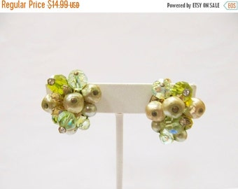 ON SALE VENDOME Beaded Cluster Earrings Item K # 2645