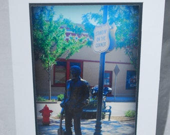 photo card, Winslow Arizona, Route 66 photograph