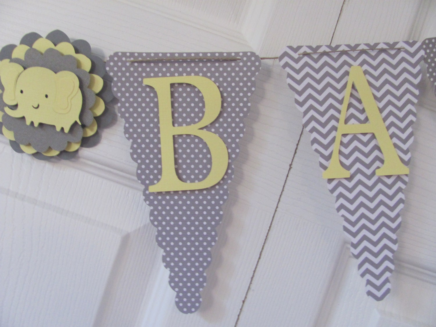 yellow and grey baby shower banner baby shower decorations