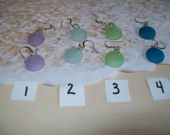 Seaglass earrings, free shipping in US