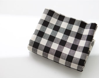 Black and White Plaid Cotton Fabric - Yarn Dyed - By the Yard 82480