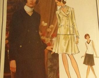 Vintage Vogue Paris Original Pattern 2393 Yves Saint Laurent Misses Size 10