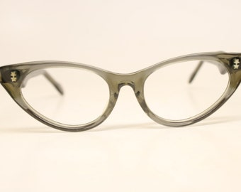 Gray Small Unused Cat Eye Eyeglasses Vintage Eyewear Retro Glasses Cat Eye Frames