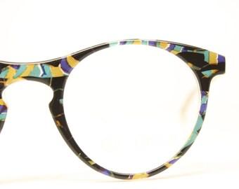 Glasses Retro Eyeglasses Fun Multicolored P3 Vintage New Old Stock Eyeglasses