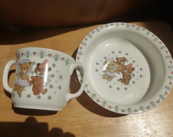 Dancing Bears by Sango China cup and bowl