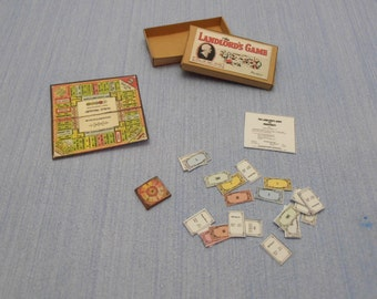 Gaël Miniature Vintage 49 Game the landlord's game   1:12 Scale Dollhouse Miniature accesories