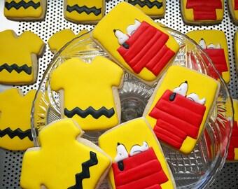 Snoopy Inspired Sugar Cookies