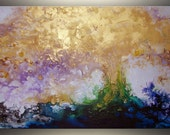 Gold Abstract Painting Original Acrylic Painting Art Painting ORIGINAL Abstract Art Original Painting Large Abstract Painting Large Art 36""