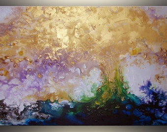 """Gold Abstract Painting Original Acrylic Painting Art Painting ORIGINAL Abstract Art Original Painting Large Abstract Painting Large Art 36"""""""