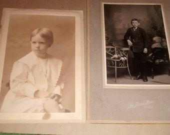 1900's Antique Photo Cabinet Cards Four Pictures