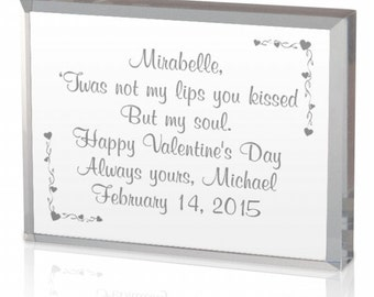 Engraved Valentine's Day Acrylic Keepsake