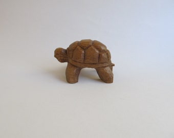 Turtle Hand Carved Wood Turtle FREE SHIPPING Home Decor Office Decor Shelf Decor Birthday Wood Anniversary Gift Gift for the Nature Lover