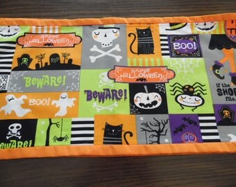HalloweenTable Runner - Scarf, Halloween Pumpkin Table Runner - Scarf, Ghost, Goblin Trick or Treat Table Runner - Free Shipping