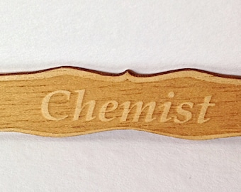 Dollhouses shop sign CHEMIST in 1/12 scale