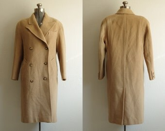 Elegant Fashions 100% Camel Hair Long Double Breasted Coat