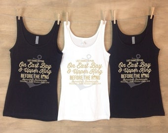 Charleston Anchor Bachelorette Shirts -Last Chance to Play On East Bay and Upper King Before The Ring