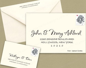 Custom Digital Calligraphy Wedding Envelope Addressing Printing-Uptown