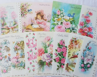 Vintage Greeting Cards Mid Century All Occasion 11 Cards