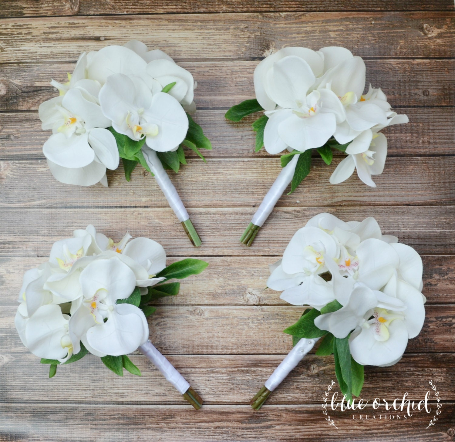 silk orchid wedding bouquets bridesmaid bouquet white orchid bridesmaid bouquet orchid 7411