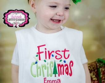 My First Christmas, First Christmas, My First Christmas Bib, Christmas Bib, Holiday Bib, Baby Shower Gift