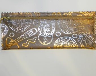 Primitive Metallic Leather Pouch