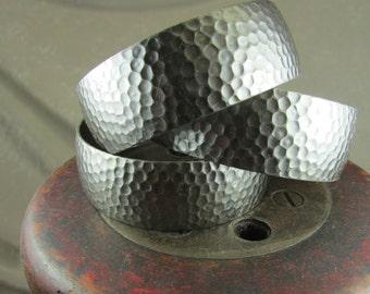 Hammered steel cuff bracelet base