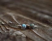 Blue Labradorite AAA Gemstone Hair Pins Wedding Bobby Pins