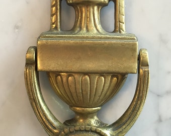 Vintage Solid Brass Door Knocker