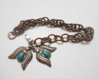 Vintage Southwestern, Native American Charm Bracelet (1523)