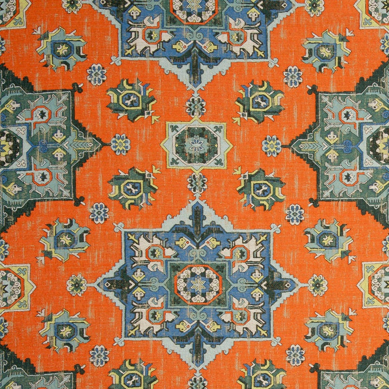 orange blue woven tapestry upholstery fabric textured blue. Black Bedroom Furniture Sets. Home Design Ideas