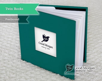 Twins Baby Memory Book - Teal