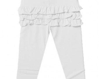 Ruffle Bum Leggings Baby and toddler ruffle bum pants - Ivory