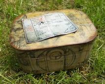 The Hobbit Wooden Keepsake / Trinket Box OOAK by Chasing Whimsies