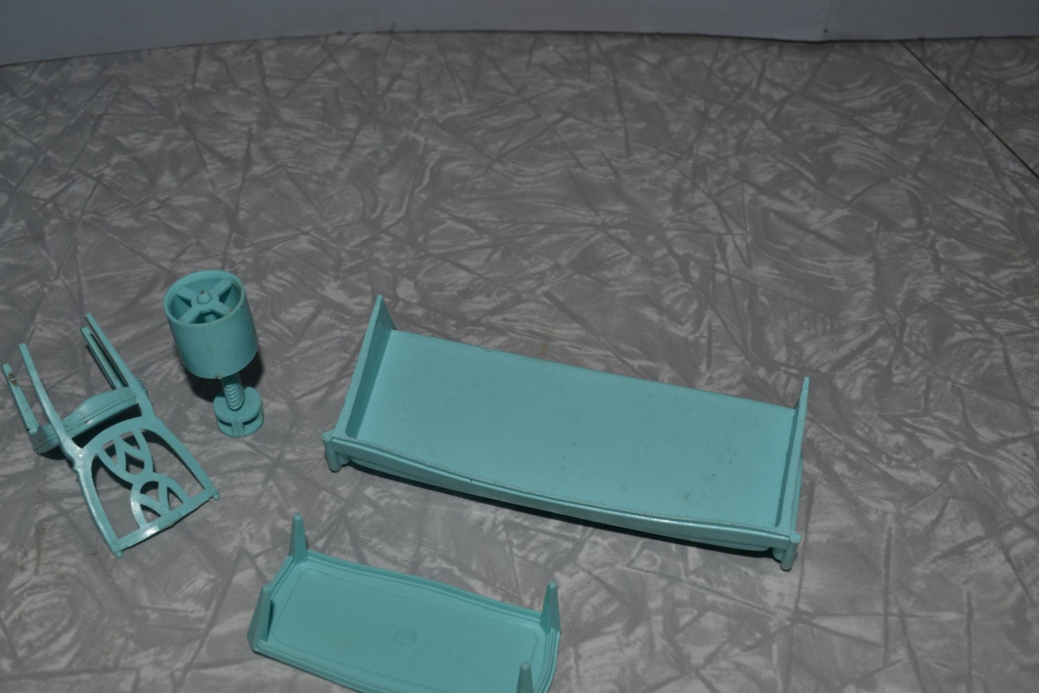 mpc turquoise living room set dollhouse furiture doll