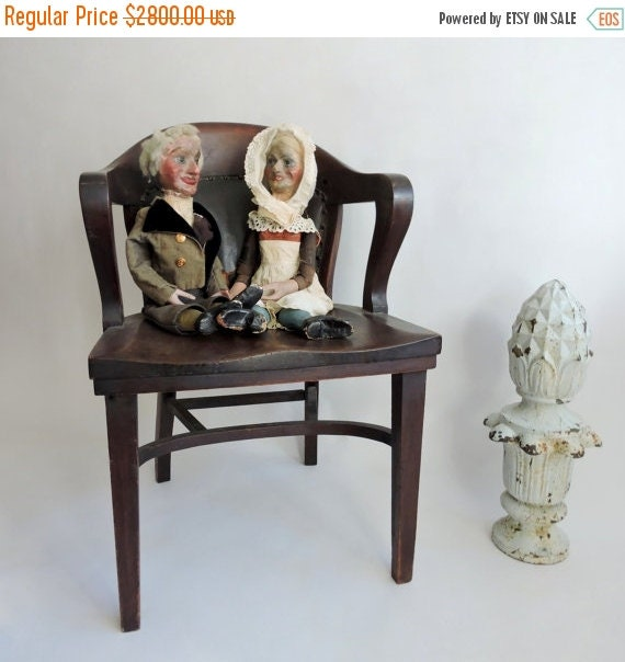 SHOP CLOSING SALE Rare Early Alfred LeMare Ventriloquist Dummies. 19th Century  Victorian British Puppets.