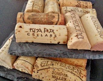 1 Slate Wine Cork Coaster - Girlfriend, Christmas, Birthday, Wine Giftbasket