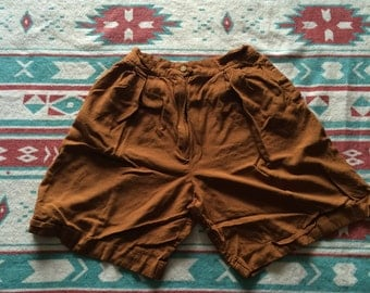 Vintage Loose Fit High Waisted Shorts
