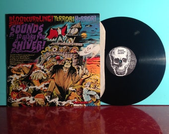 Bloodcurdling Terror Horror Stereo Sounds To Make You Shiver Vinyl Record Album LP 1980s Halloween Ghost Story Very Good + Condition Vintage