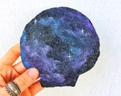 mermaid magic - cosmic hand-painted scallop shell - galaxy shell