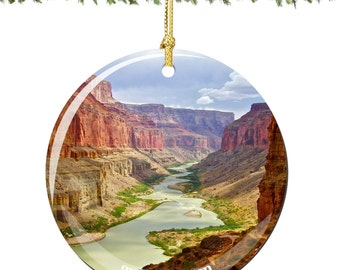 Grand Canyon Christmas Ornament in Porcelain