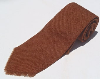 Vintage 1950s Brown Souvenir Wool Tie by Webb Young from New Mexico