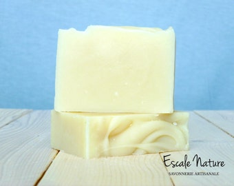 Natural soap for sensitive skin with oat, calendula and camomile. Handmade olive oil soap
