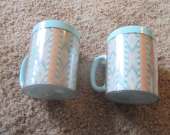Pair of Aztec Thermoserv Insulated Coffee Mugs