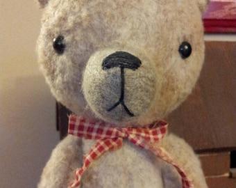 Primitive Handmade Teddy Bear