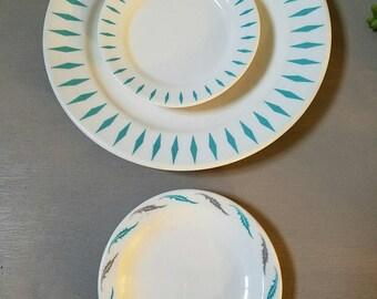Three Vintage Homer Laughlin Plates 1950s