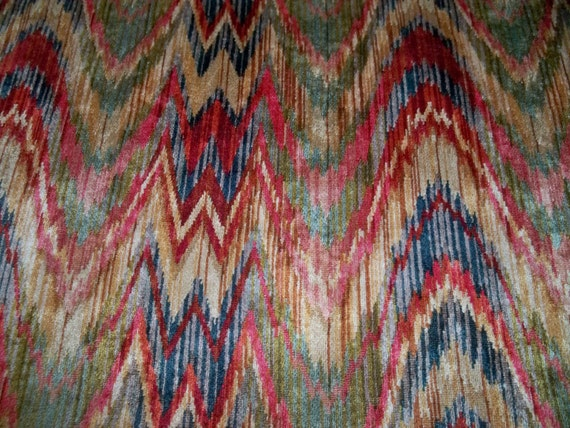 Designer Talcie Bargello Flamestitch Upholstery Fabric 10