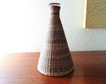 Vintage Native American Basket Woven Bottle