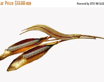 Coro Flower Brooch Gold plated and silver