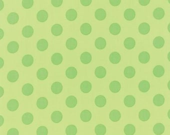 Grow! Grow green with green Polka Dots By Me and my Sisters Designs - Moda Fabrics 22274-17