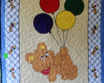 Quilt - Quilted Baby Blanket - Baby Quilt - Gender Neutral Baby Quilt for Boy or Girl